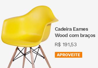 Cadeira Eames Wood com Braços