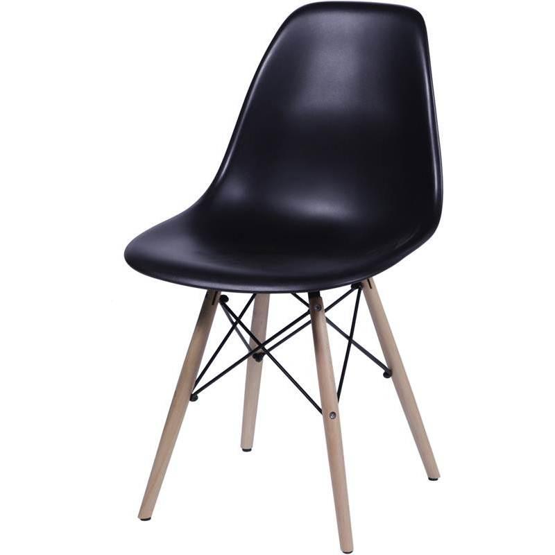 Cadeira Eames Wood Preta PP OR Design 1102B