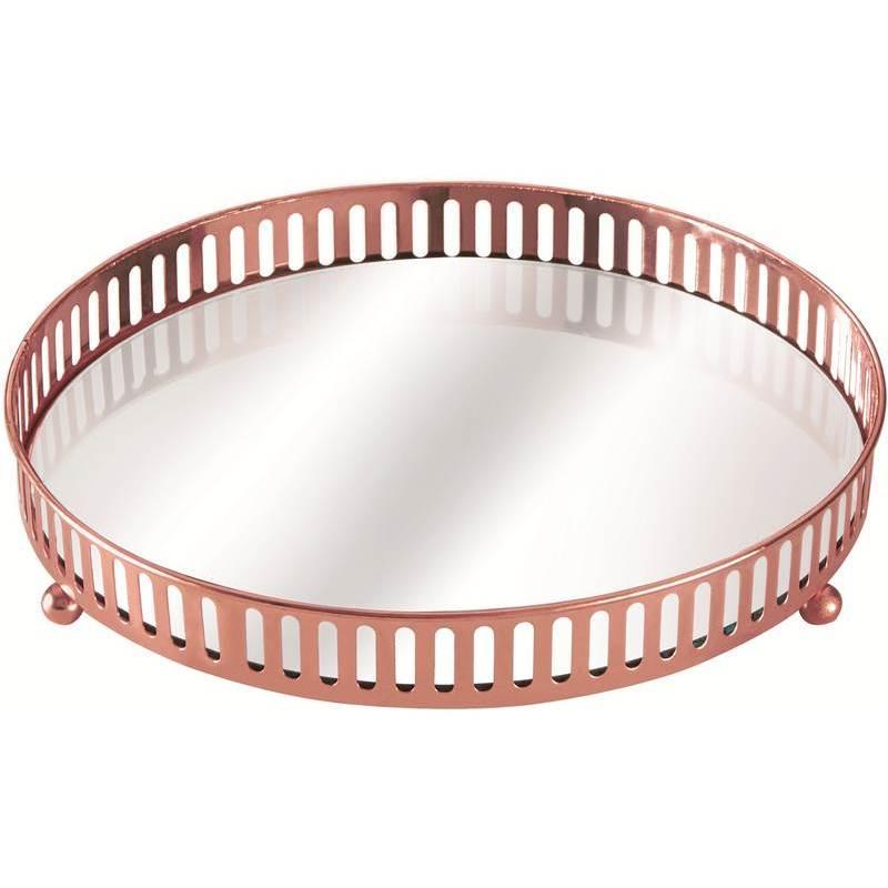 Bandeja de Metal com Espelho Cobre Cirkel 7180 Mart