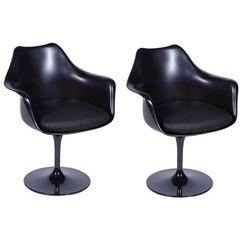 Kit-2-Cadeiras-Saarinen-Preta-ABS-e-Couro-Giratoria-OR-Design-1130---PRETO-1