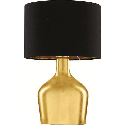 Abajur de Vidro Dourado com Cúpula em Tecido Glatt 7356 Mart