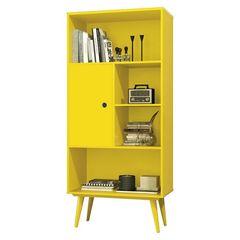 Livreiro-com-1-Porta-Amarelo-Chaplin-EDN