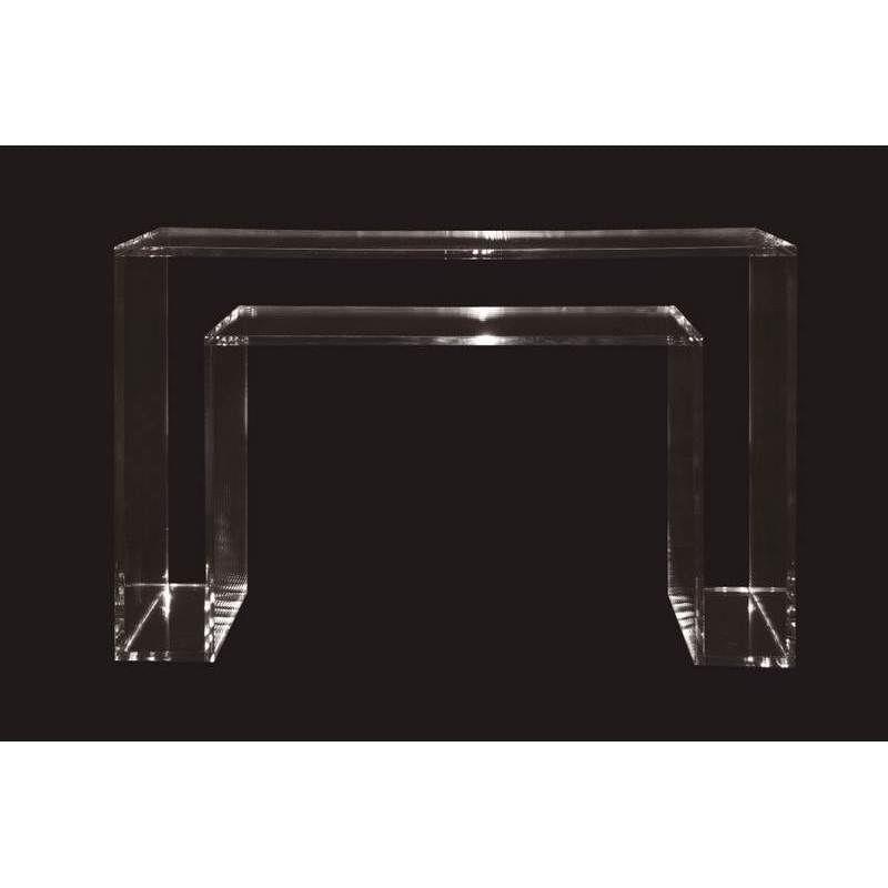 Artesanato Com Eva E Garrafa Pet ~ Aparador Double Clear Acrílico Transparente ByArt Lojas