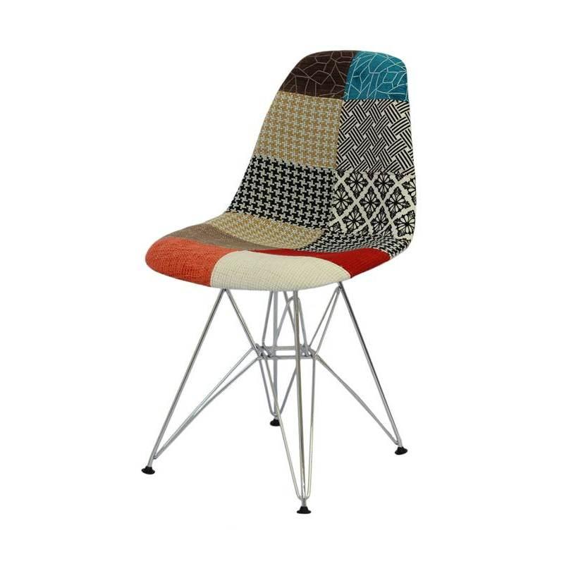 Cadeira de Jantar Eames Eiffel Patchwork 1102 OR Design
