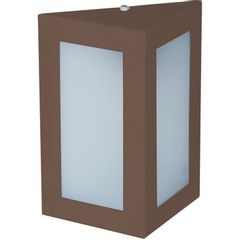 Arandela-Triangular-Marrom-23cm-em-Aluminio-Estilo-1212-Biancoluce