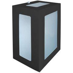 Arandela-Retangular-Preta-20cm-em-Aluminio-Estilo-1213-Biancoluce