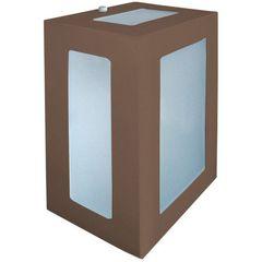 Arandela-Retangular-Marrom-20cm-em-Aluminio-Estilo-1213-Biancoluce