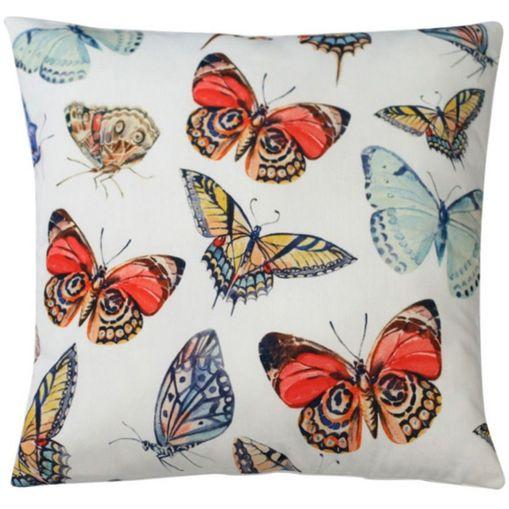 Capa-de-Almofada-Branca-45x45cm-Butterflies-Urban