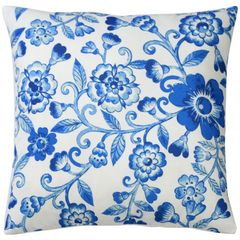 Capa-de-Almofada-Azul-45x45cm-Blue-Flowers-Urban