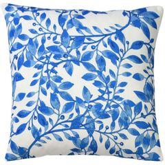 Capa-de-Almofada-Azul-45x45cm-Blue-Leaves-Urban