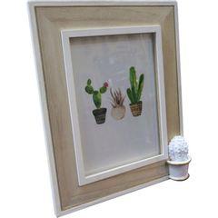 Porta-Retrato-Branco-e-Bege-para-1-Foto-Cactus-Spines-Urban
