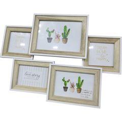 Porta-Retrato-Branco-e-Bege-para-5-Fotos-Multi-Cactus-Urban