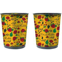 Lixeira-Decorativa-de-Metal-Amarela-Frida-Kahlo-Urban