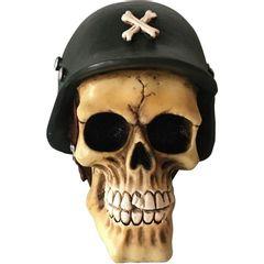 Caveira-Decorativa-em-Resina-Soldier-Skull-Urban