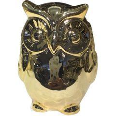 Coruja-Decorativa-em-Ceramica-Dourada-Surdo-Urban