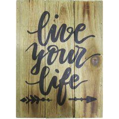 Placa-Decorativa-Marrom-em-Madeira-Live-Your-Life-Urban