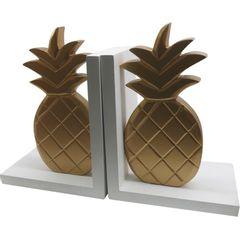 Porta-Livros-Branco-e-Dourado-em-Madeira-Pineapples-Urban