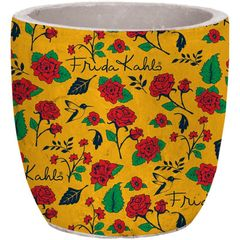 Cachepot-de-Ceramica-Amarelo-Flowers-Frida-Kahlo-Urban