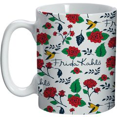 Caneca-de-Ceramica-Branca-Flores-Frida-Kahlo-Urban