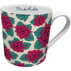 Caneca-de-Ceramica-Branca-Flower-Frida-Kahlo-Urban