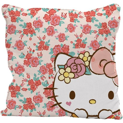 Capa-de-Almofada-Rosa-45x45cm-Lace-Hello-Kitty-Urban