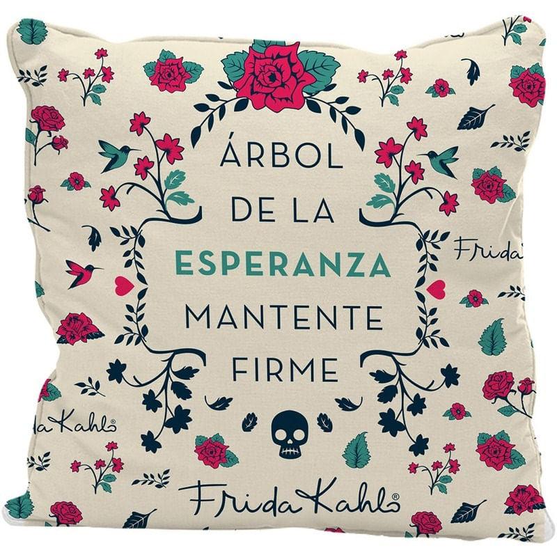 Capa de Almofada Branca 45x45cm Esperanza Frida Kahlo Urban