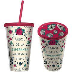 Copo-de-Plastico-com-Canudo-500ml-Branco-Frida-Kahlo-Urban