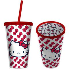 Copo-de-Plastico-com-Canudo-500ml-Branco-Hello-Kitty-Urban