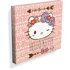Quadro-Decorativo-Rosa-40cm-Hello-Kitty-Urban