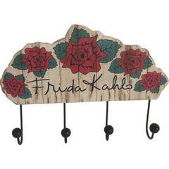 Cabideiro-de-Parede-4-Ganchos-Flowers-Frida-Kahlo-Urban