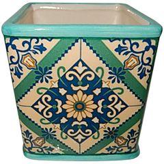Cachepot-de-Ceramica-Verde-Tile-Portuguese-Grande-Urban