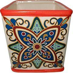Cachepot-de-Ceramica-Vermelho-Tile-Vintage-Grande-Urban