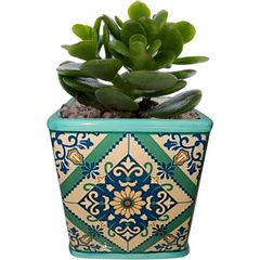 Cachepot-de-Ceramica-Verde-Tile-Portuguese-Pequeno-Urban