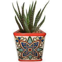 Cachepot-de-Ceramica-Vermelho-Tile-Vintage-Pequeno-Urban