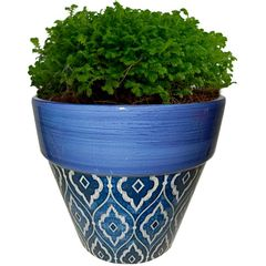 Cachepot-de-Ceramica-Azul-Tile-Cone-Urban
