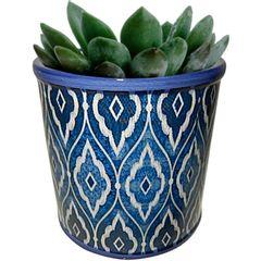 Cachepot-de-Ceramica-Azul-Marroquino-Pequeno-Urban