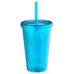Copo-de-Plastico-com-Canudo-Azul-Vivid-Colors-Urban