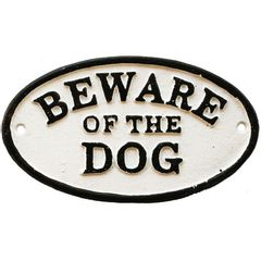 Placa-Decorativa-em-Ferro-Beware-Of-The-Dog-Urban