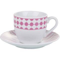 Conjunto-de-6-Xicaras-para-Cafe-em-Porcelana-com-Pires-Rosa-90ml-Viena-2153-Lyor