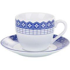 Conjunto-de-6-Xicaras-para-Cha-em-Porcelana-com-Pires-Azul-90ml-Atenas-2161-Lyor