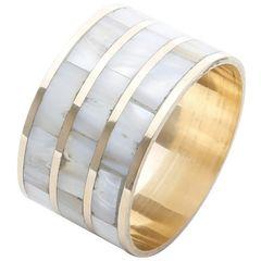 Conjunto-de-4-Aneis-para-Guardanapos-em-Aluminio-e-Osso-Marfim-Circular-2198-Lyor