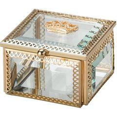Porta-Joias-de-Zamac-e-Vidro-Dourado-Crown-II-Dourado-3265-Lyor