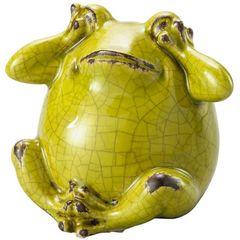 Sapo-Decorativo-em-Ceramica-Verde-Not-Listen-3287-Lyor