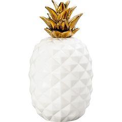 Abacaxi-Decorativo-em-Ceramica-Branco-Dourado-Grande-3388-Lyor