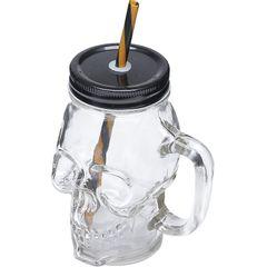 Caneca-de-Vidro-com-Tampa-e-Canudo-Skull-Style-6621-Lyor