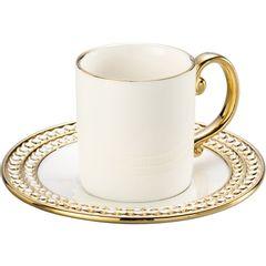Conjunto-de-6-Xicaras-para-Cafe-em-Porcelana-Dourada-100ml-Charme-8122-Lyor