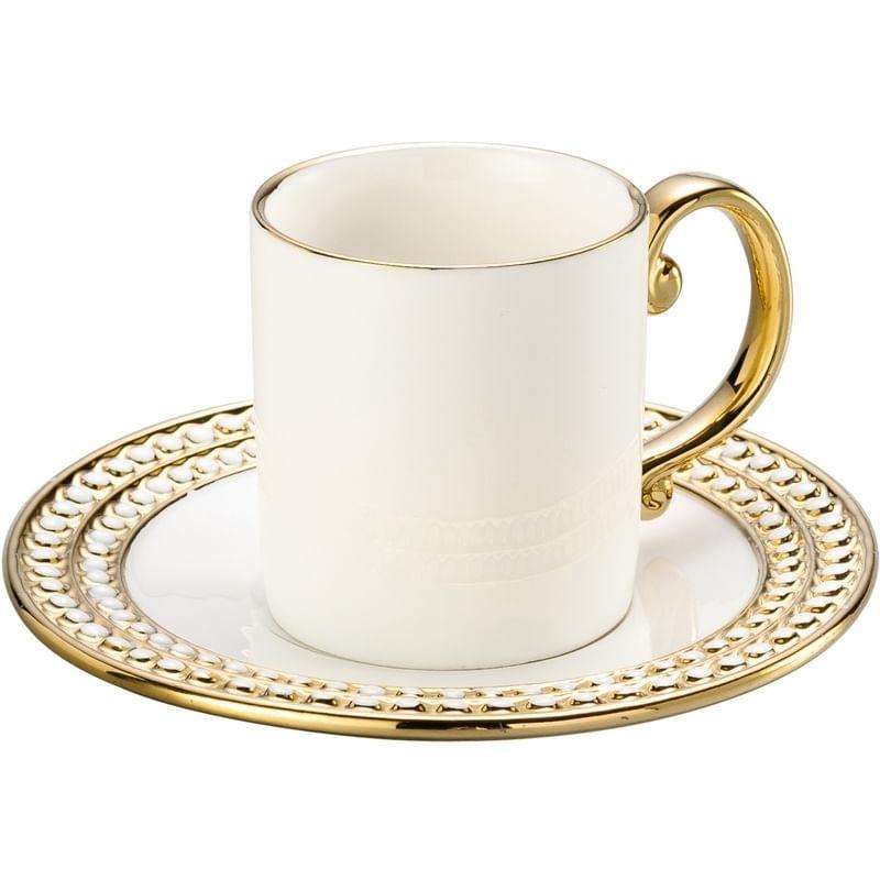 a082e27e5e 6 Xícaras para Café em Porcelana Dourada 8122 Lyor - Lojas Incor