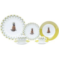 Aparelho-de-Jantar-com-42-Pecas-em-Porcelana-Laranja-Pineapple-8197-Lyor