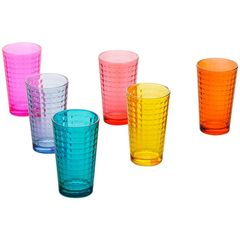Conjunto-com-6-Copos-em-Vidro-Colorido-Xadrex-II-9746-Lyor