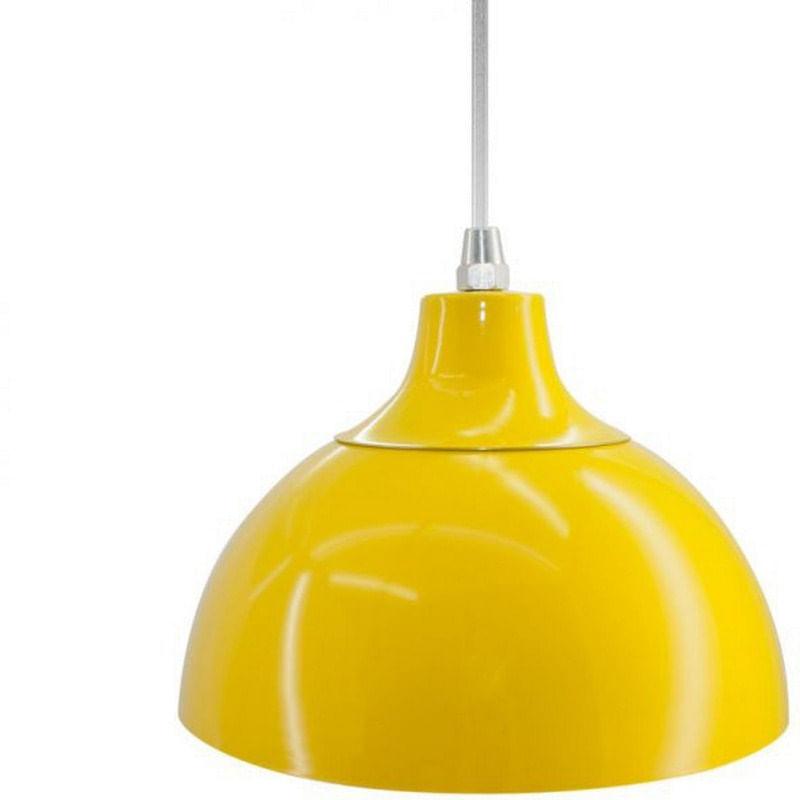 Pendente em Alumínio Amarelo 19,5cm Jour Skylux